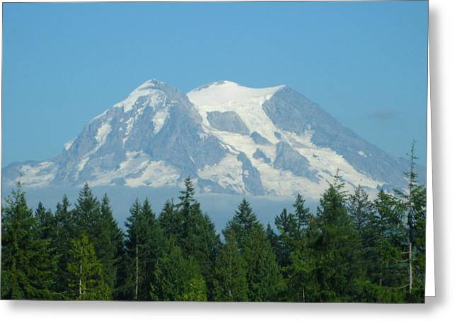 Mt. Massive Greeting Cards - Mount Rainier Greeting Card by Kathy Long