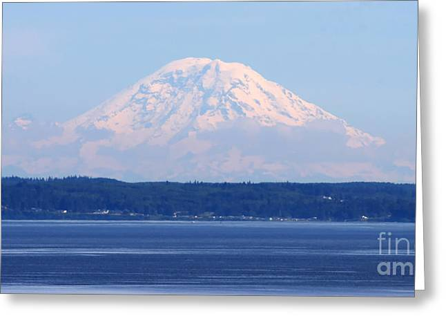 Tap On Photo Greeting Cards - Mount Rainier Greeting Card by Tap  On Photo
