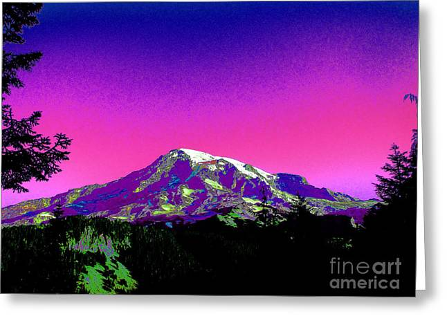 Mount Rainier Washington Greeting Card by Ron  Tackett