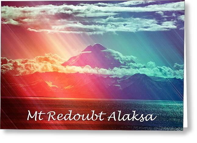 Mount Redoubt Alaska Greeting Card by Debra  Miller