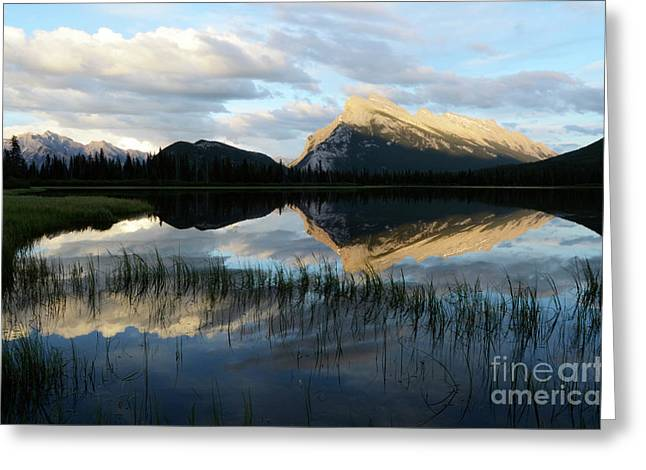 Rundle Greeting Cards - Mount Rundle Banff Greeting Card by Bob Christopher
