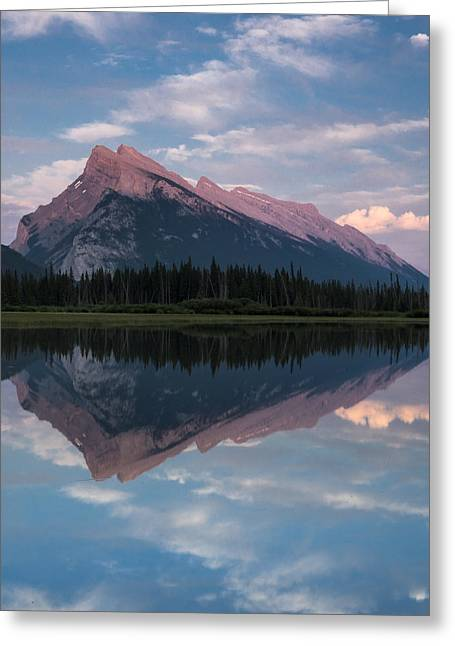 Rundle Greeting Cards - Mount Rundle - Banff National Park Greeting Card by Cale Best