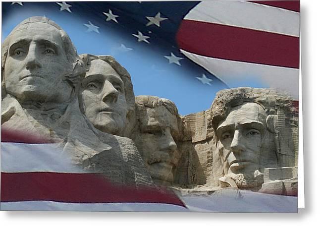 Mt Digital Greeting Cards - Mount Rushmore 1 Greeting Card by Ernie Echols