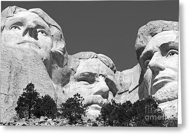 Mount Rushmore Greeting Card by Alex Cassels