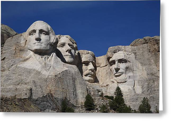 Best Sellers -  - Statue Portrait Greeting Cards - Mount Rushmore Greeting Card by Frank Romeo