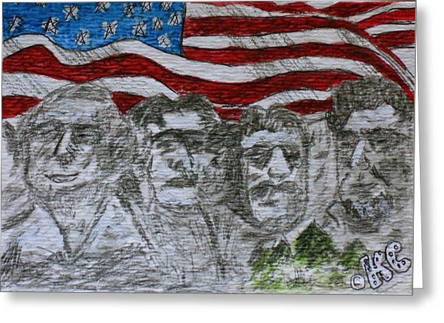 Mount Rushmore Greeting Card by Kathy Marrs Chandler