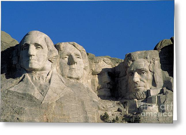 Gutzon Greeting Cards - Mount Rushmore Greeting Card by Mark Newman