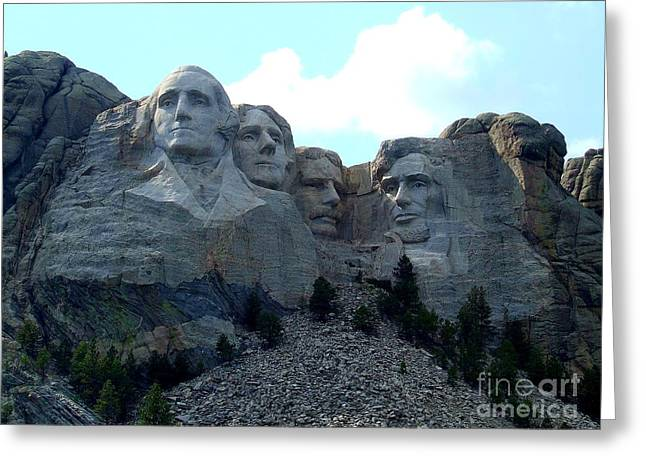 Borglum Greeting Cards - Mount Rushmore National Memorial is A Strong Foundation Greeting Card by Reid Callaway