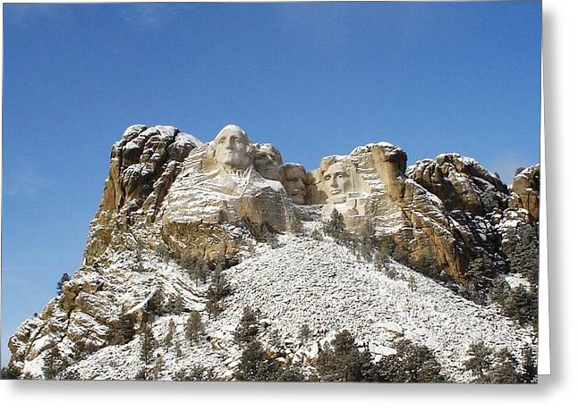 Gutzon Greeting Cards - Mount Rushmore National Memorial Greeting Card by National Parks Service