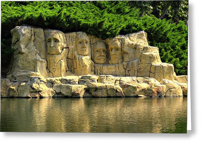 Lego Greeting Cards - Mount Rushmore Greeting Card by Ricky Barnard
