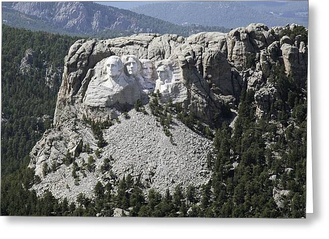 Dakota Faces Photographs Greeting Cards - Mount Rushmore, USA, aerial image Greeting Card by Science Photo Library