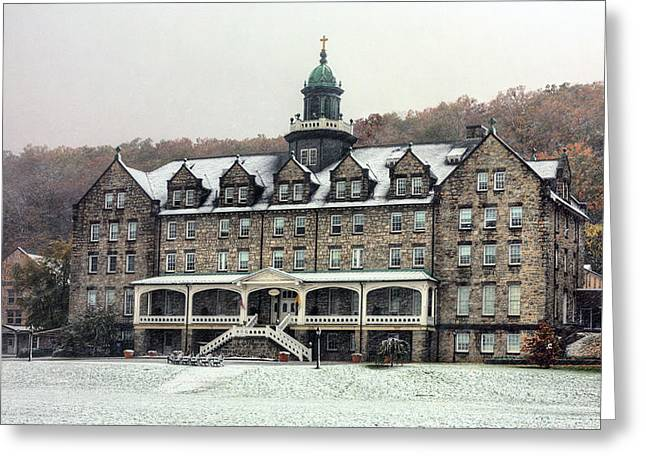 Located Greeting Cards - Mount Saint Marys University Greeting Card by JC Findley