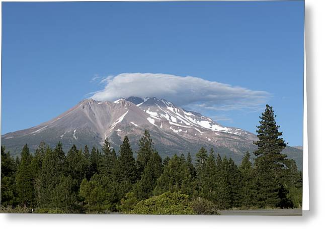 Siskiyou County Greeting Cards - Mount Shasta in the Cascade Range in Northern California Greeting Card by Carol M Highsmith
