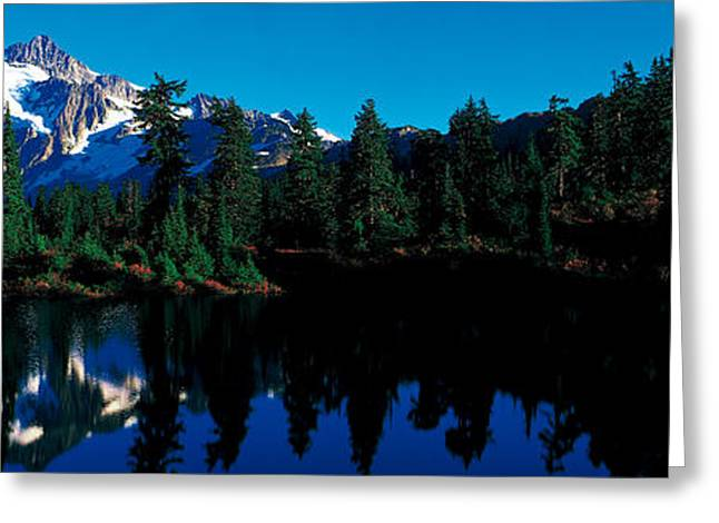 Snow Capped Greeting Cards - Mount Shuksan North Cascades National Greeting Card by Panoramic Images