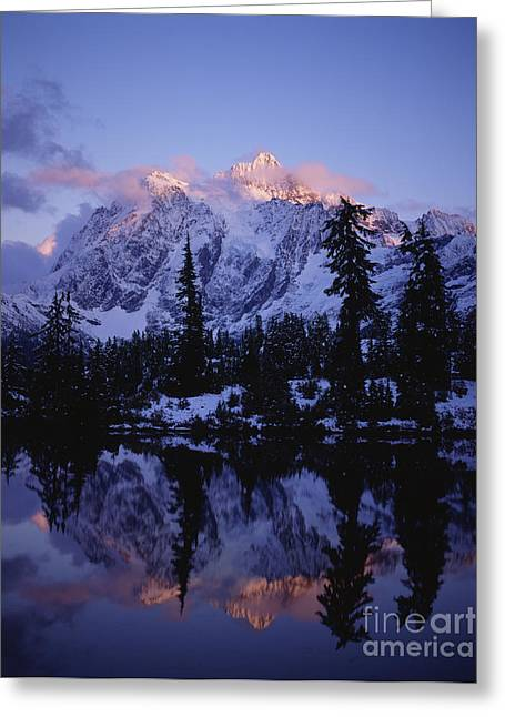 Mystical Landscape Greeting Cards - Mount Shuksan Picture Lake  Greeting Card by Jim Corwin