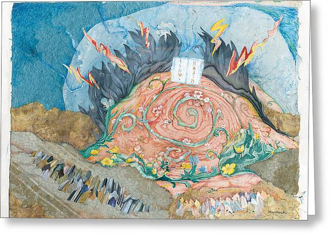 Sinai Mountain Greeting Cards - Mount Sinai Greeting Card by Michoel Muchnik