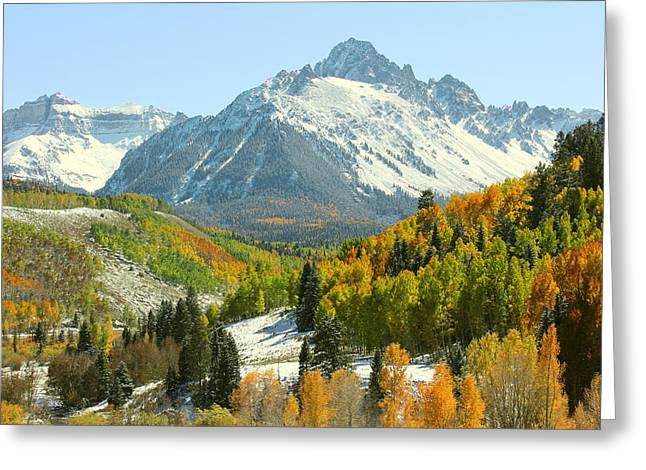 Mt. Massive Greeting Cards - Mount Sneffels in Ridgway Colorado Greeting Card by Brett Pfister