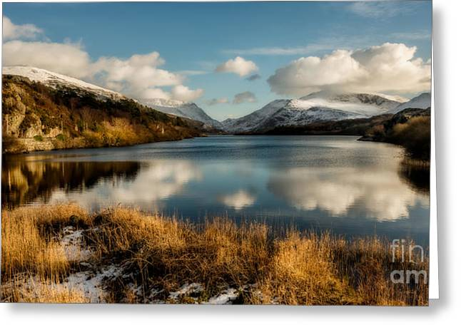 Mount Snowdon Greeting Card by Adrian Evans