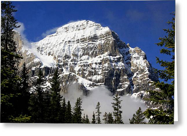 Shale Greeting Cards - Mount Stephen Greeting Card by Stephen Stookey