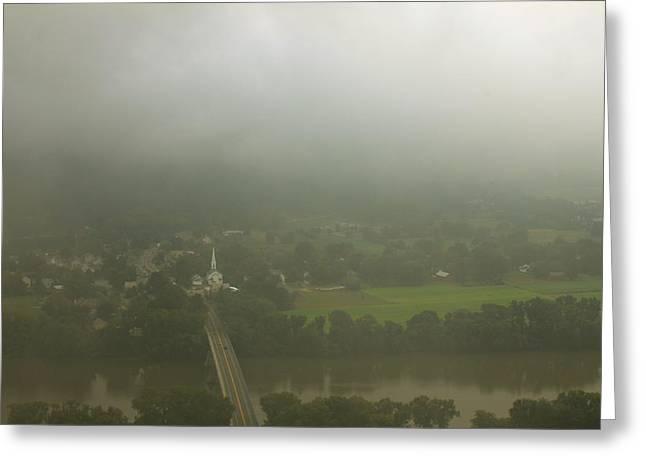 Deerfield River Greeting Cards - Mount Sugarloaf Summer Storm Greeting Card by John Burk
