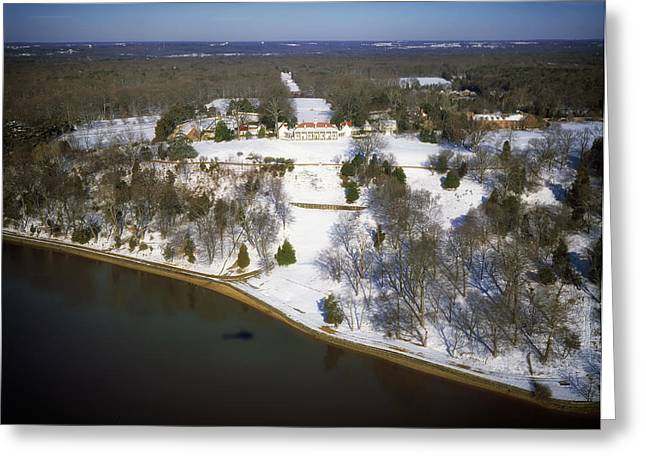 Famous Estates Greeting Cards - Mount Vernon Estate in Winter Greeting Card by Mountain Dreams