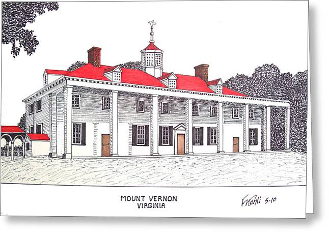 Mount Vernon Greeting Card by Frederic Kohli
