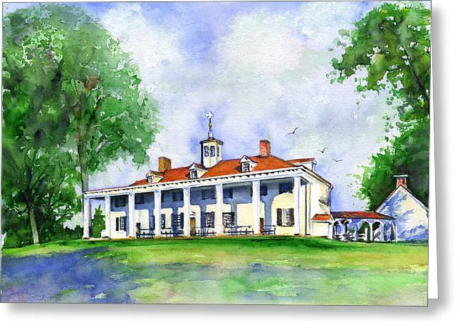 Mount Vernon Greeting Cards - Mount Vernon Front Greeting Card by John D Benson
