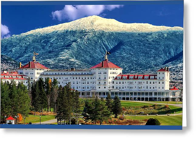 Nature Images Greeting Cards - Mount Washington Hotel Greeting Card by Tom Prendergast
