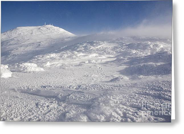 Blowing Snow Greeting Cards - Mount Washington - White Mountains New Hampshire Greeting Card by Erin Paul Donovan
