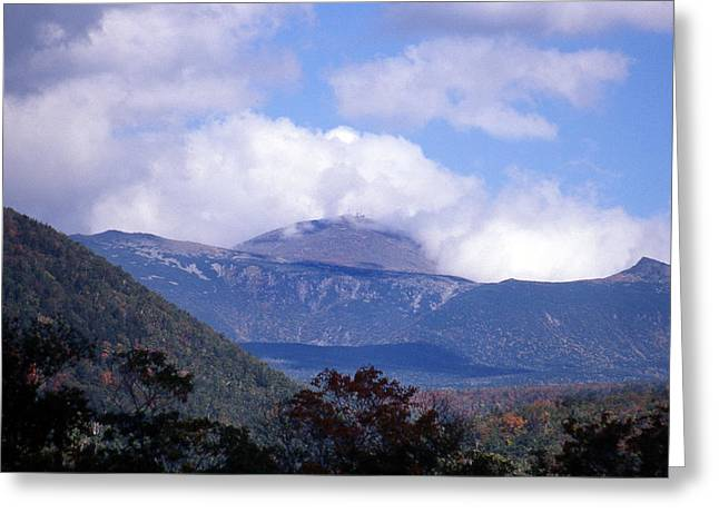 Scenic Photography Greeting Cards - Mount Washington Greeting Card by Skip Willits