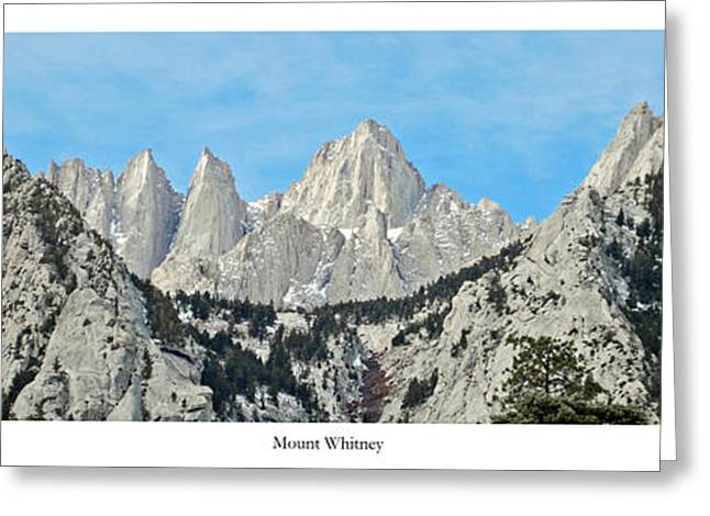 Mount Whitney Greeting Card by Twenty Two North Photography