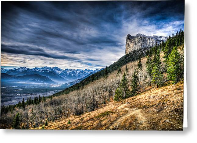 Alberta Foothills Landscape Greeting Cards - Mount Yamnuska Hiking View Greeting Card by Brandon Smith