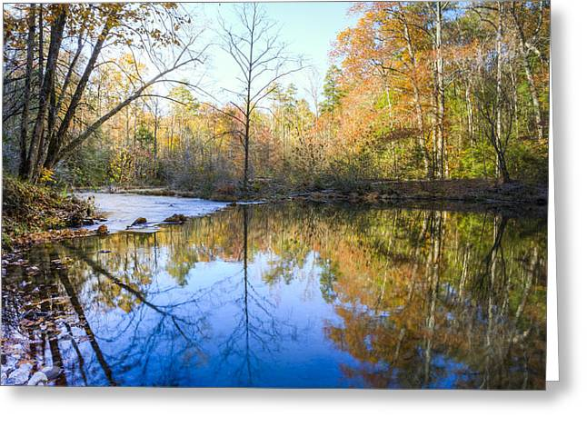 Tree Reflection At Sunset Greeting Cards - Mountain Beauty Greeting Card by Debra and Dave Vanderlaan