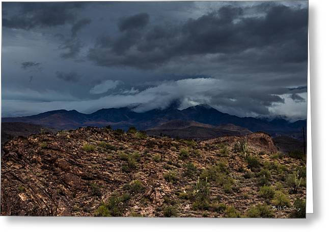Mountain Blanket Greeting Card by Bill Cantey
