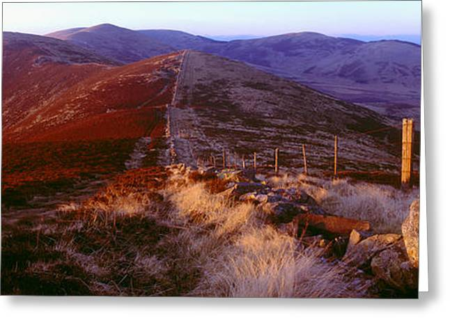 Border Photographs Greeting Cards - Mountain, Broughton Heights, Tweeddale Greeting Card by Panoramic Images