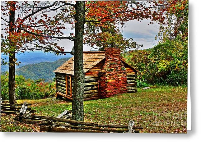 Mountain Cabin 1 Greeting Card by Dan Stone