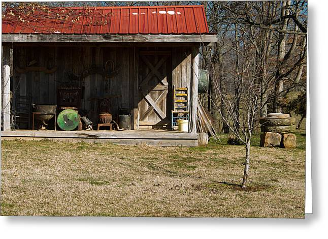 Saw Blade Greeting Cards - Mountain Cabin in Tennessee 3 Greeting Card by Douglas Barnett