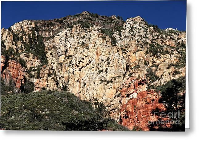 Oak Creek Greeting Cards - Mountain Colors in Oak Creek Greeting Card by John Rizzuto