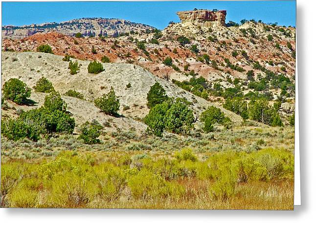 The Plateaus Digital Greeting Cards - Mountain Desert of Colorado Plateau Off Hole-in-the-Rock Road in Grand Staircase Escalante NMON-Utah Greeting Card by Ruth Hager