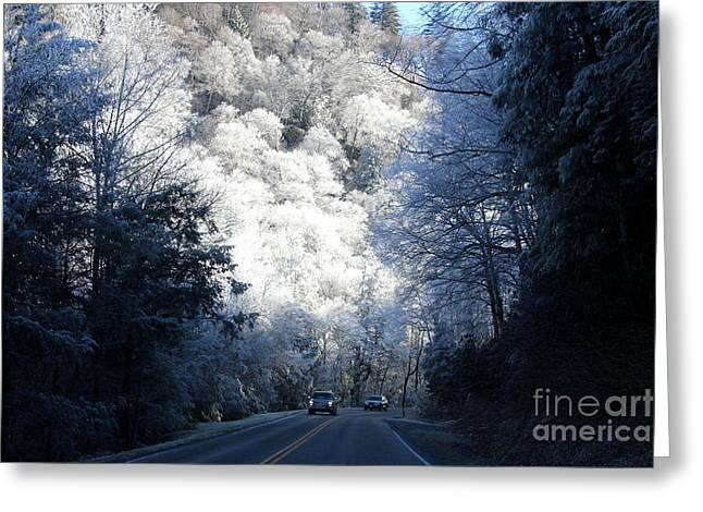 Gatlinburg Tennessee Greeting Cards - Mountain Drive Greeting Card by Jeanne Forsythe