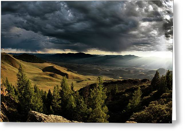 Most Photographs Greeting Cards - Mountain Evening Greeting Card by Leland D Howard