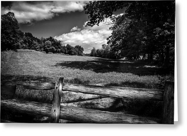 Recently Sold -  - Maine Farms Greeting Cards - Mountain Field Greeting Card by Bob Orsillo