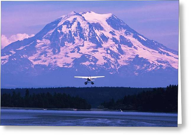 Tacoma Greeting Cards - Mountain Flight Greeting Card by Benjamin Yeager