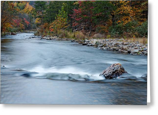 Mountain Fork Greeting Cards - Mountain Fork River in the Fall Greeting Card by Silvio Ligutti
