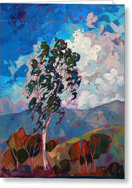 Loose Greeting Cards - Mountain Gallery Greeting Card by Erin Hanson