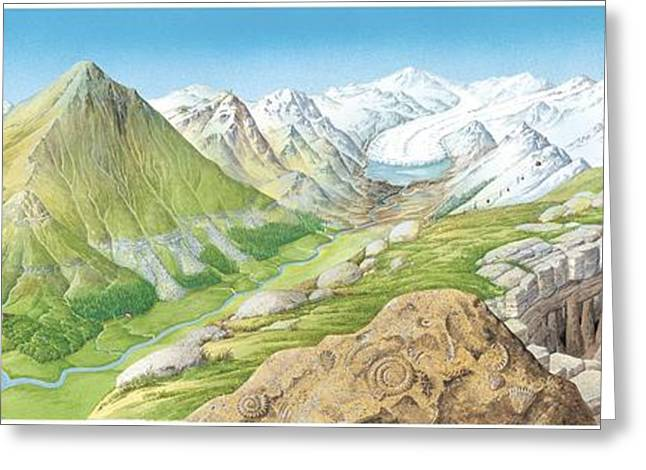 Mountain Valley Greeting Cards - Mountain Geography, Artwork Greeting Card by Gary Hincks