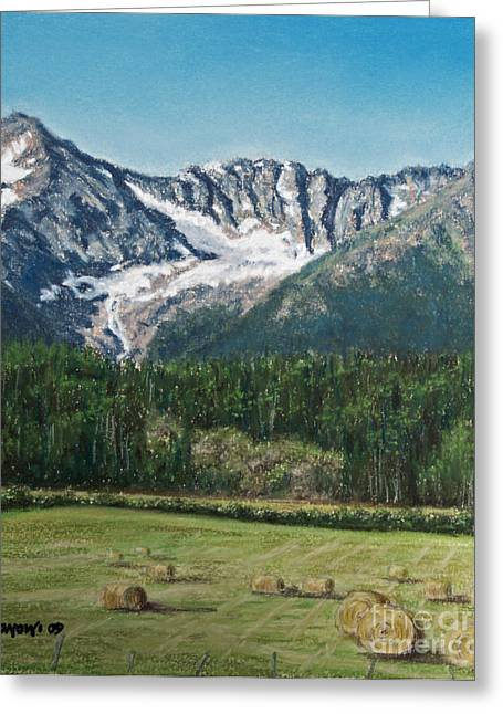 Bale Pastels Greeting Cards - Vanishing Glacier Greeting Card by Stanza Widen