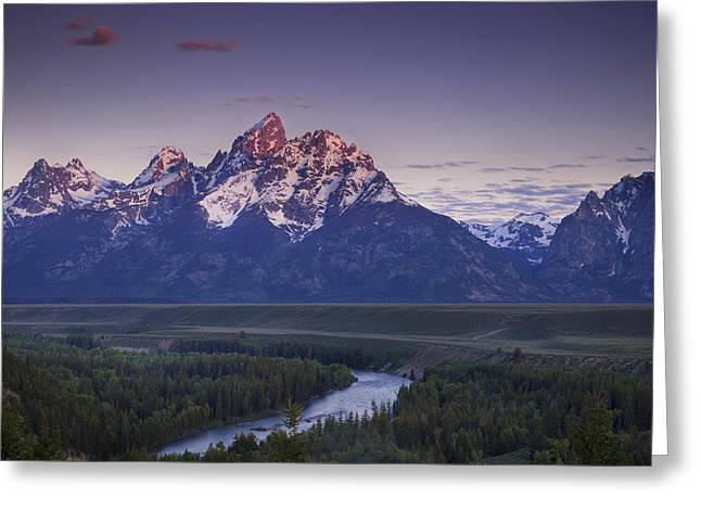 Mountain Glow Greeting Card by Andrew Soundarajan