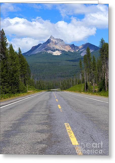 Highway Greeting Cards - Mountain Highway Greeting Card by Mike Dawson