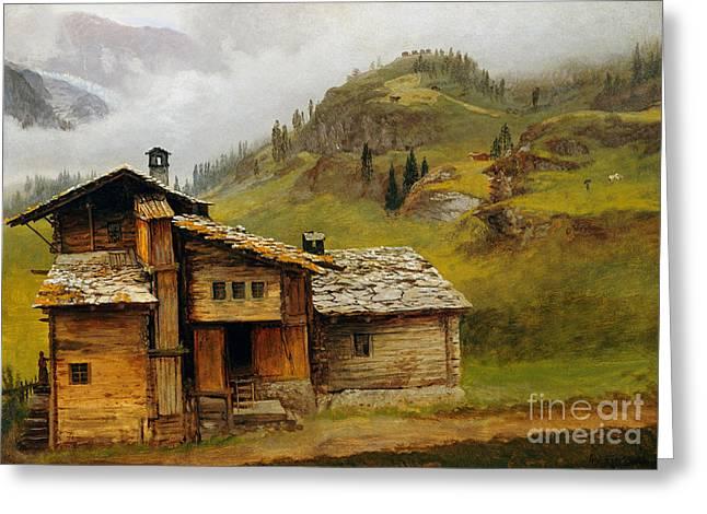 Mountain House  Greeting Card by Albert Bierstadt